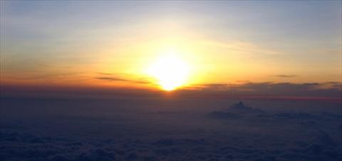 富士山からの日の出